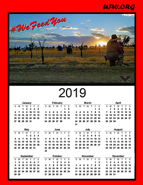 Download your FREE 2019 UFW Calendar – UFW