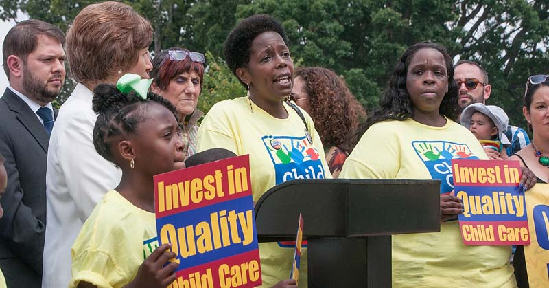 Join us as we fight for a child care system that works for all of us.