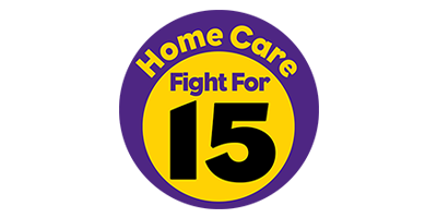 Home Care Fight For $15 Logo