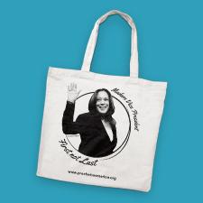 Photo of Kamala Harris tote bag