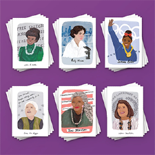 Photo of World Changing Women Vote Cards