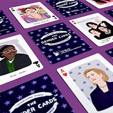 Photo of gender cards