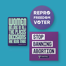 Photo of NARAL Stickers.