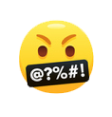 Emoji of an angry face.