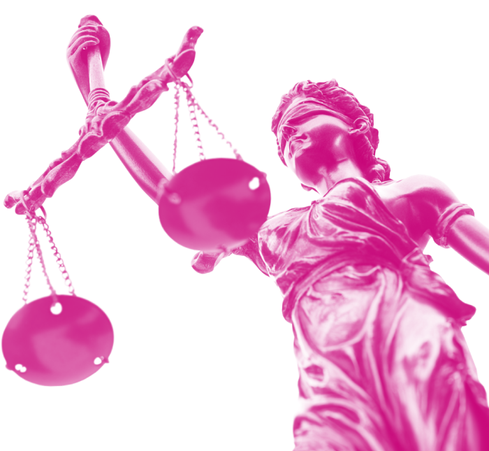 Image of blindfolded statue holding the scales of justice