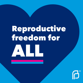 A social sharing graphic that says 'Reproductive freedom for all.'