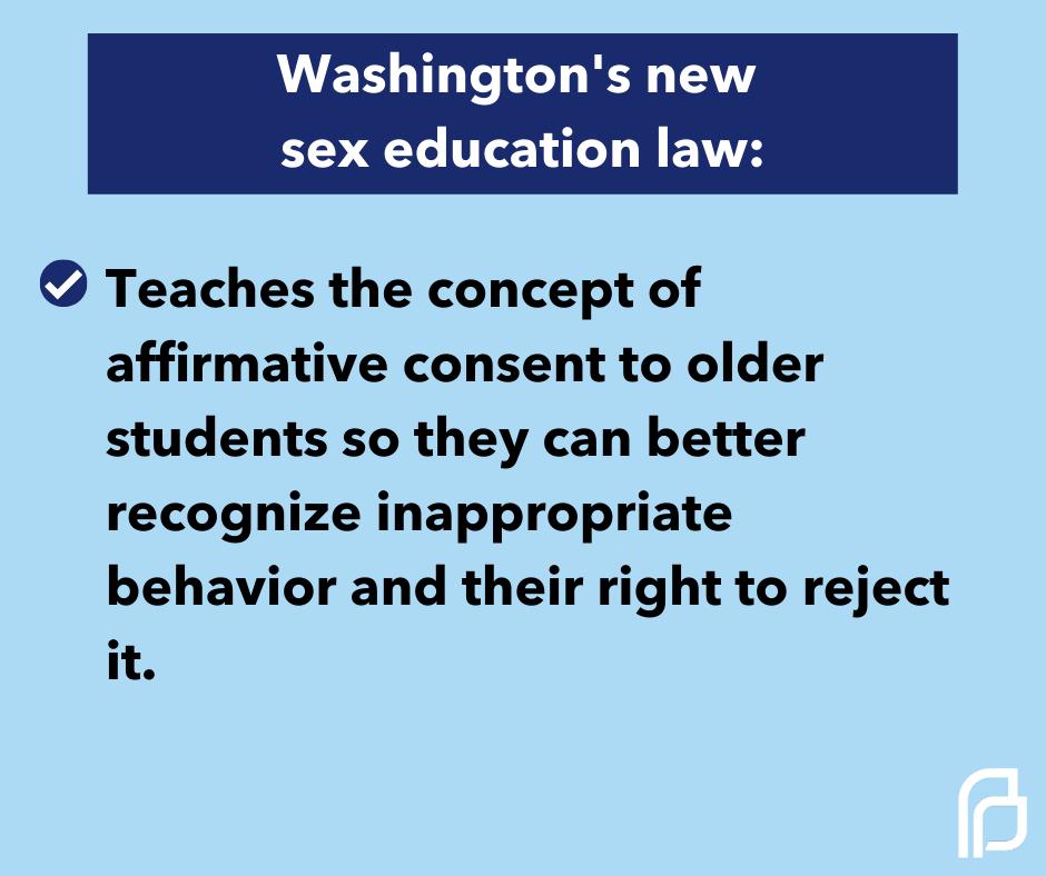 Washington's new sex education law: