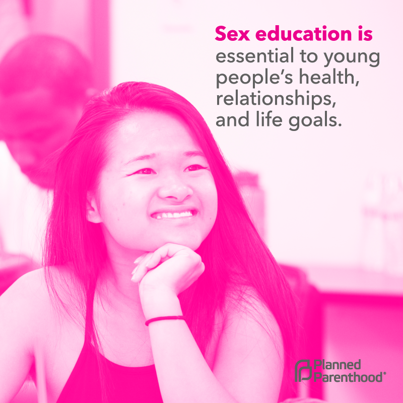 Sex education is essential