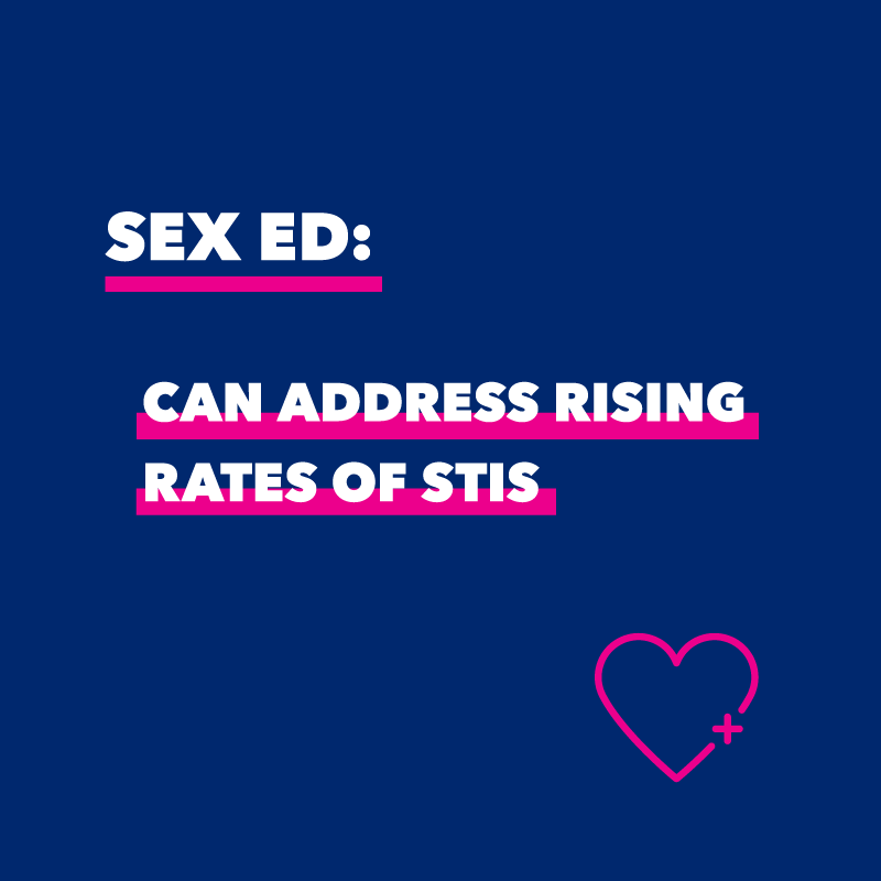 Sex ed can address rising rates of STIs