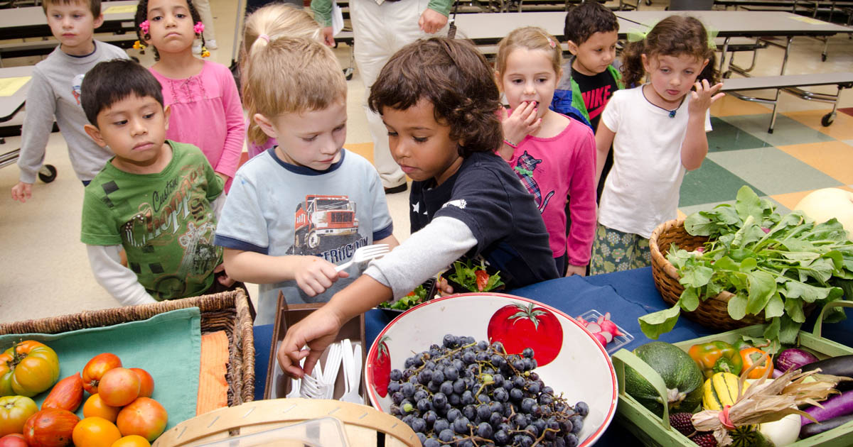 Kids and produce