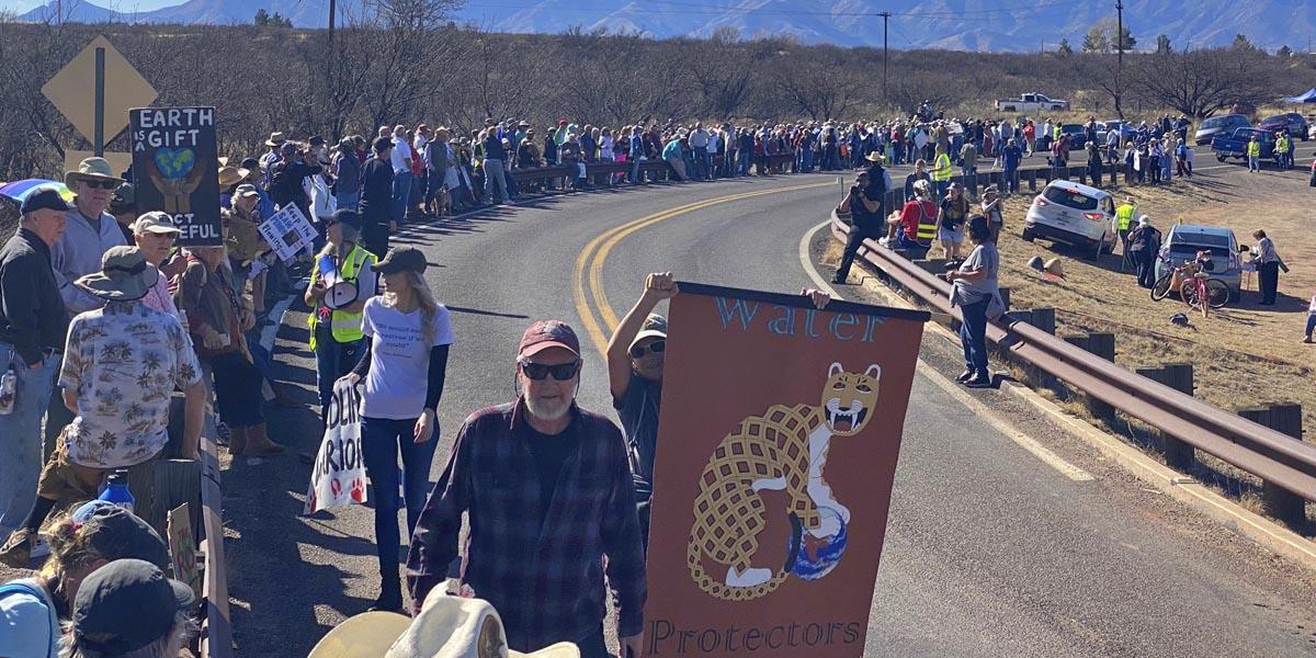 San Pedro River protest