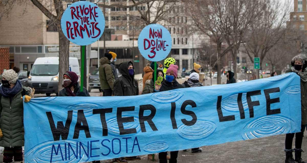 Pipeline protest in June 2021