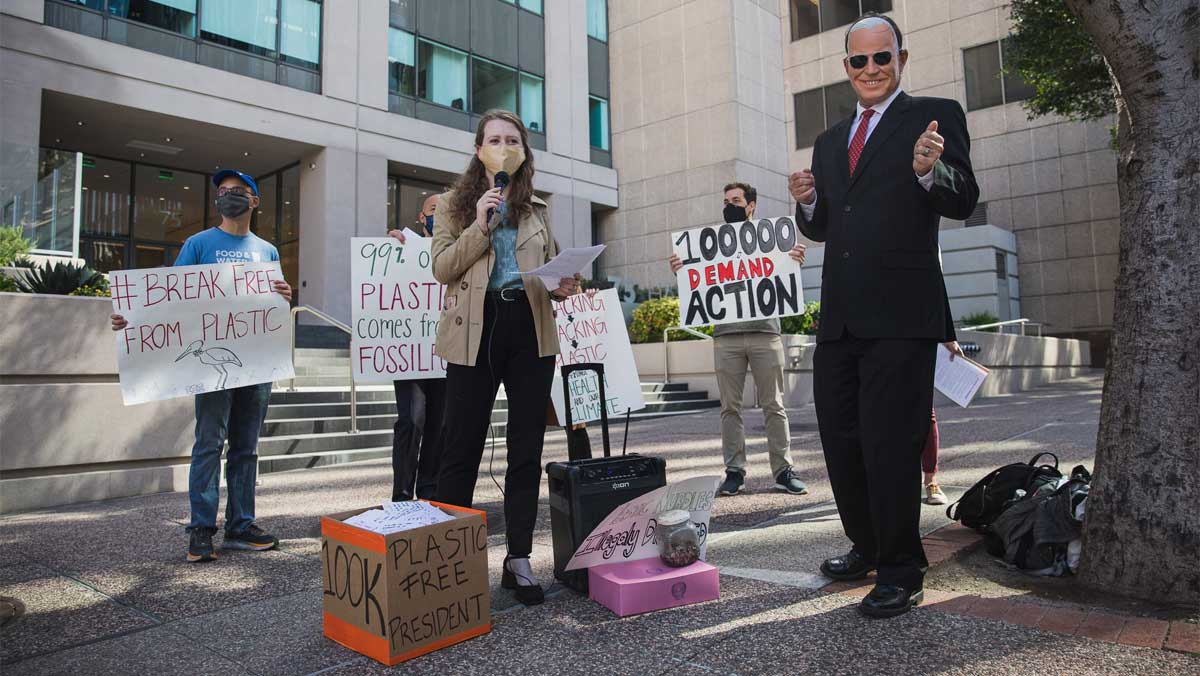 ''Break Free From Plastic'' rally outside San Francisco EPA headquarters