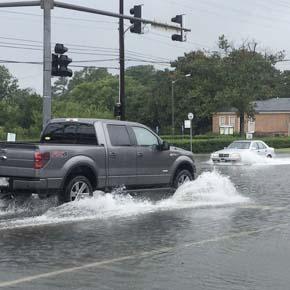Flooding in Norfolk, Va.