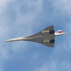 Concorde supersonic plane