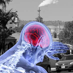 Industrial pollution's effect on the brain: graphic