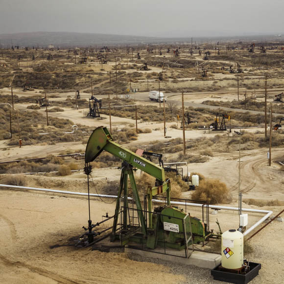 Kern County oil field