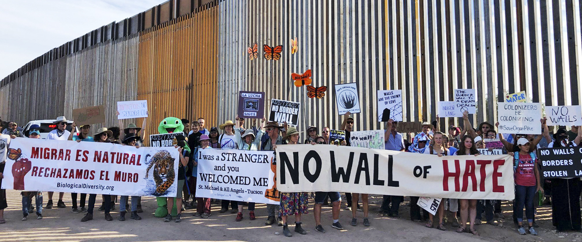 Border wall protest