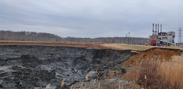 Coal ash impoundment, NC