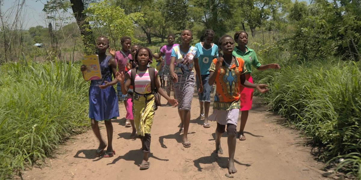 Girls at Gorongosa National Park