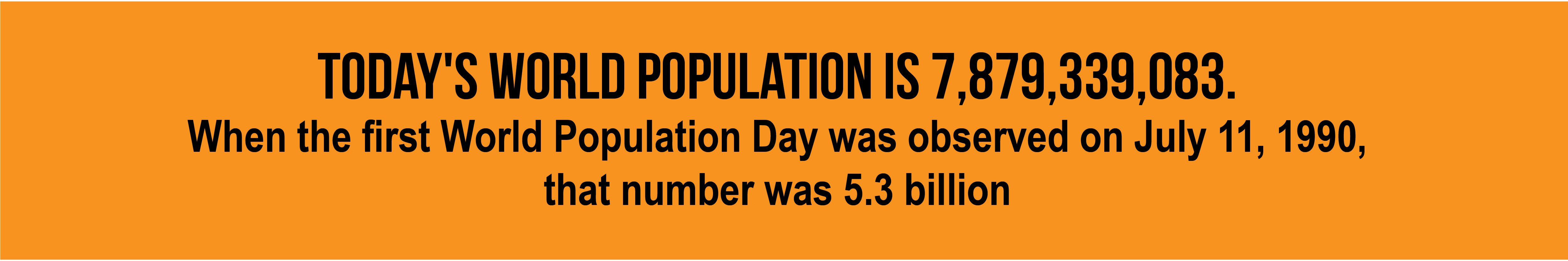Today's world population is 7,879,339,083.