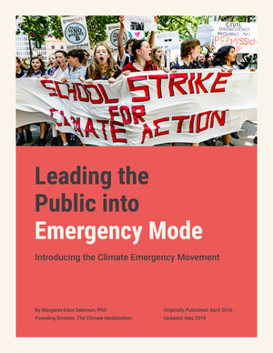 Cover of Leading the Public into Emergency Mode paper
