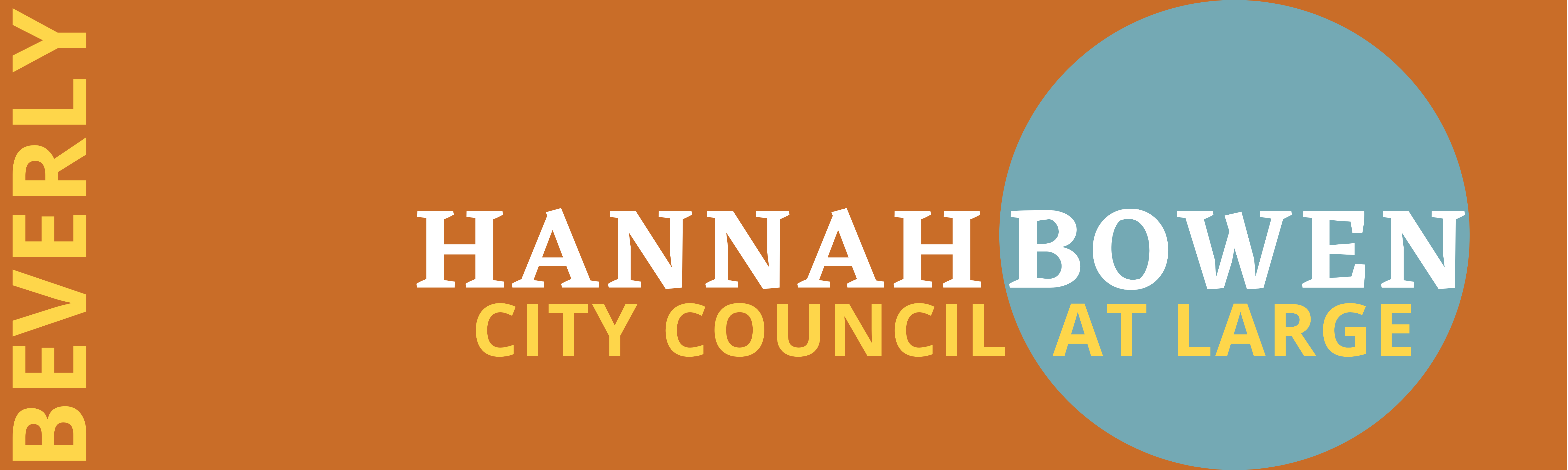 Hannah Bowen for Beverly City Council at-Large 2021