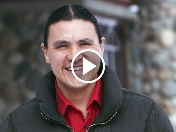 Chase Iron Eyes and Family
