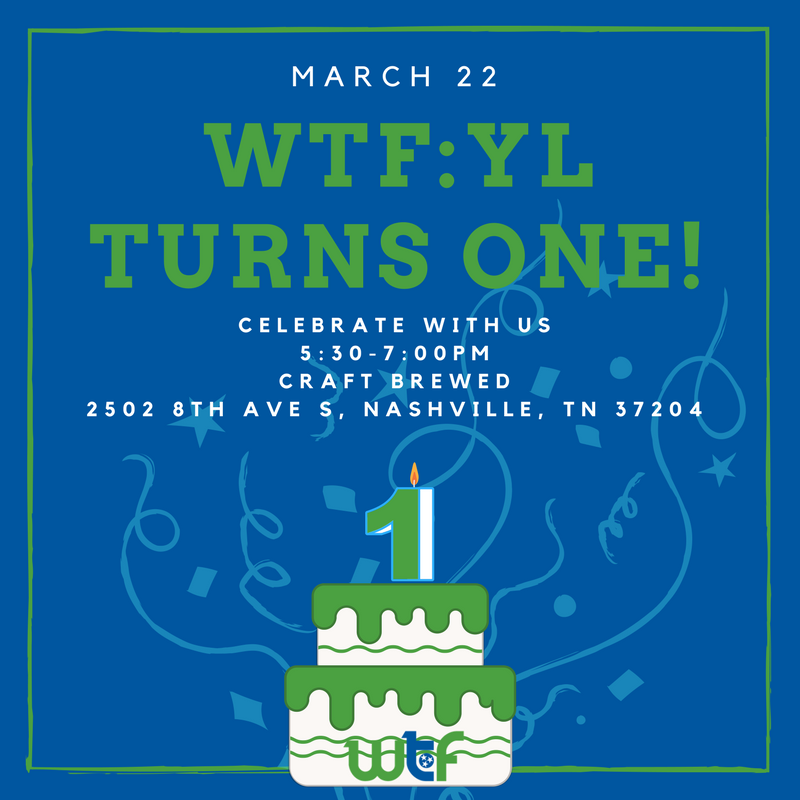 Wtf yl one year anniversary wtf women for tennessee future wtf yl one year anniversary stopboris Choice Image