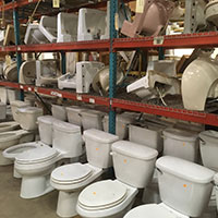 Plumbing fixtures at Community Forklift
