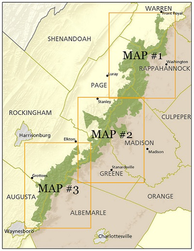 Map 347.Historic Tracts Of Shenandoah National Park Maps Piedmont