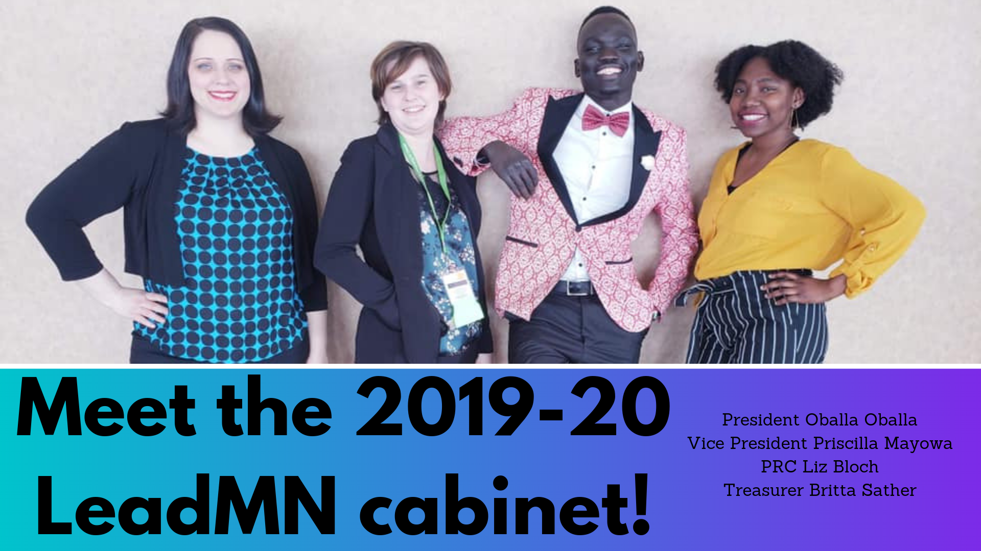 Meet the 2019-20 cabinet!