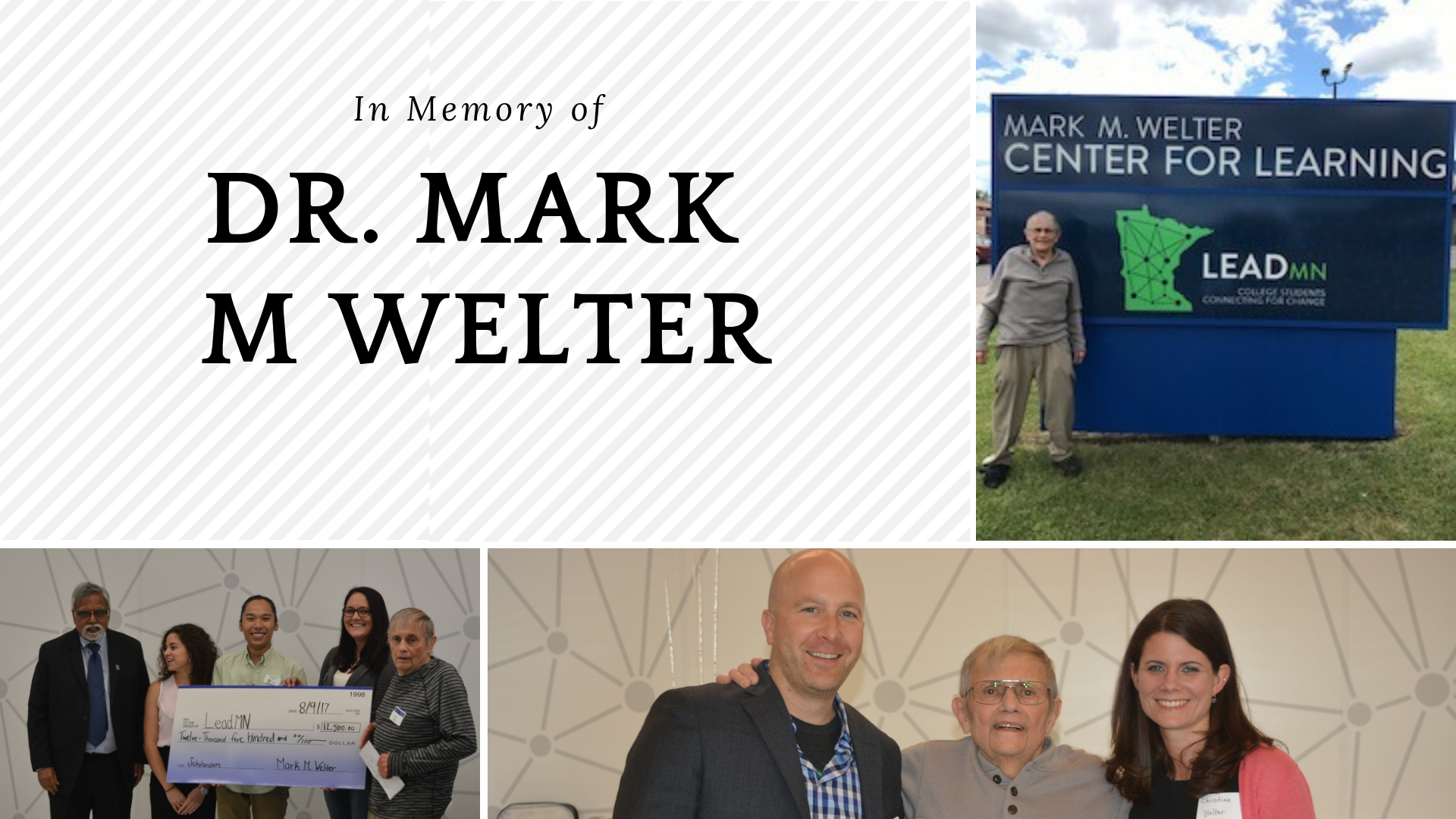 In Memory of Dr. Mark M Welter