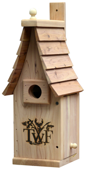 Bluebird house with Tennessee Wildlife Federation brand