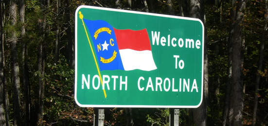 a sign saying welcome to North Carolina