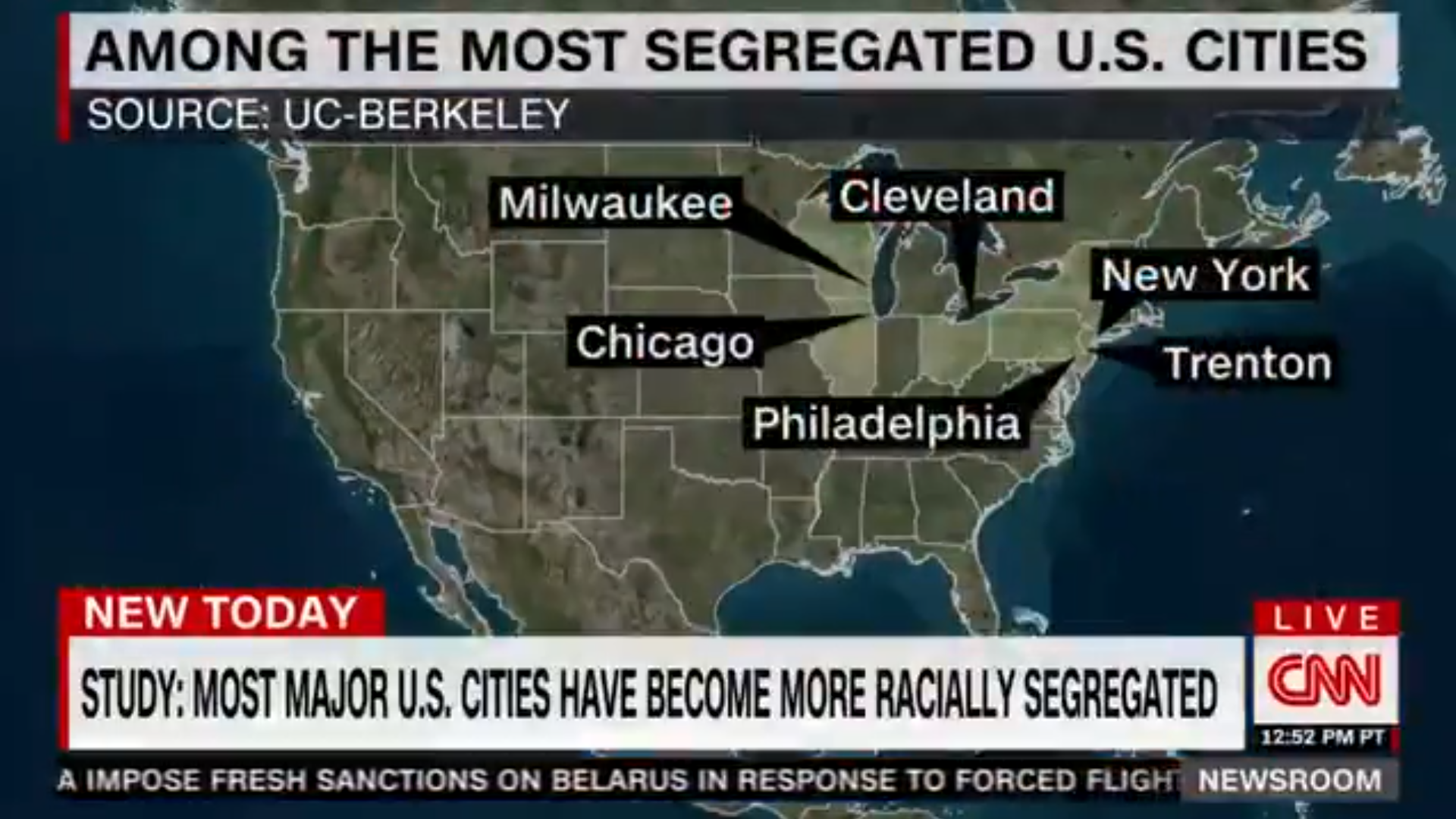Screengrab of our report being featuring on CNN