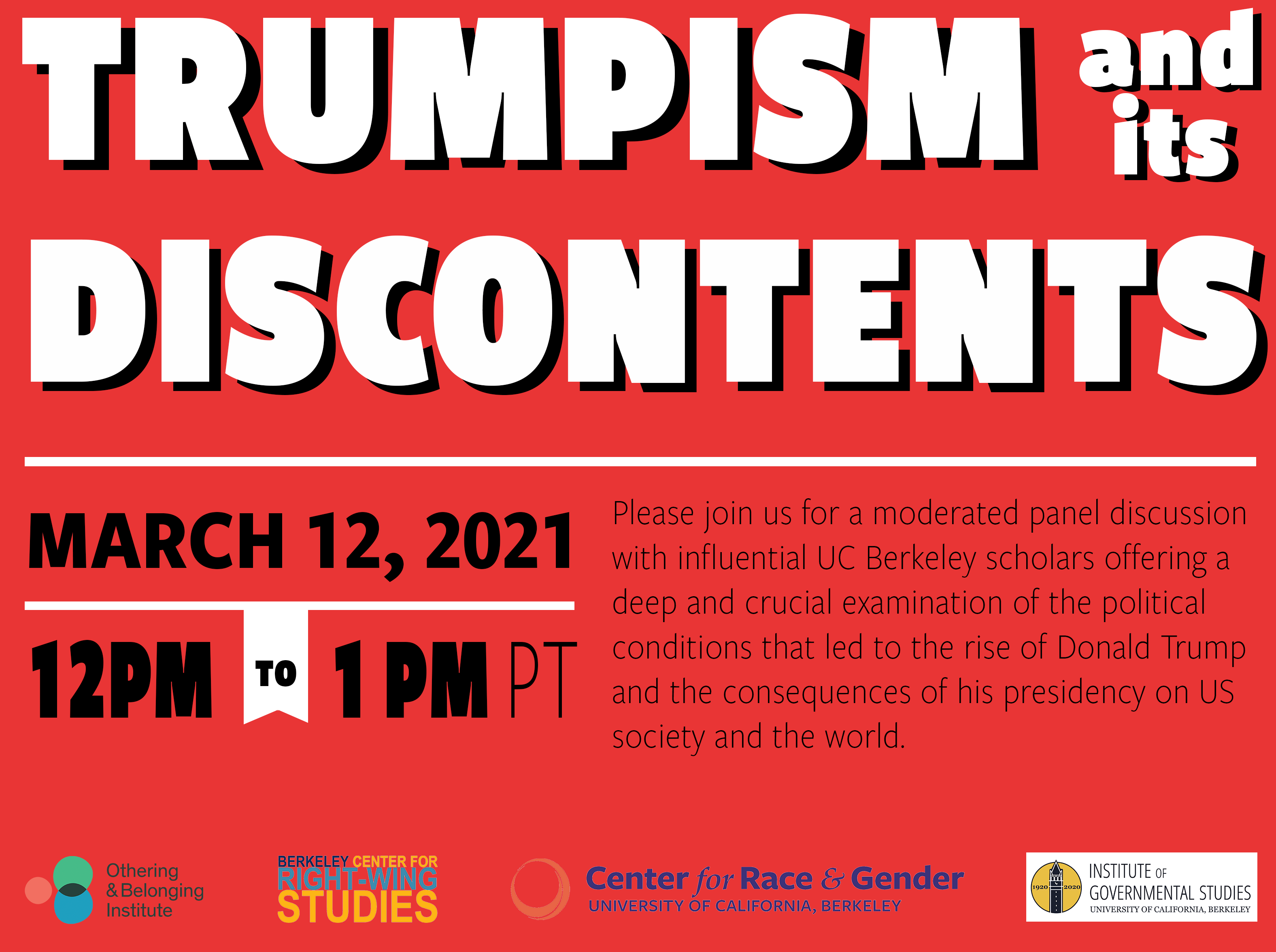 Promo flier for our Trumpism event