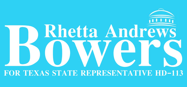 Rhetta Andrews Bowers for State Representative HD 113
