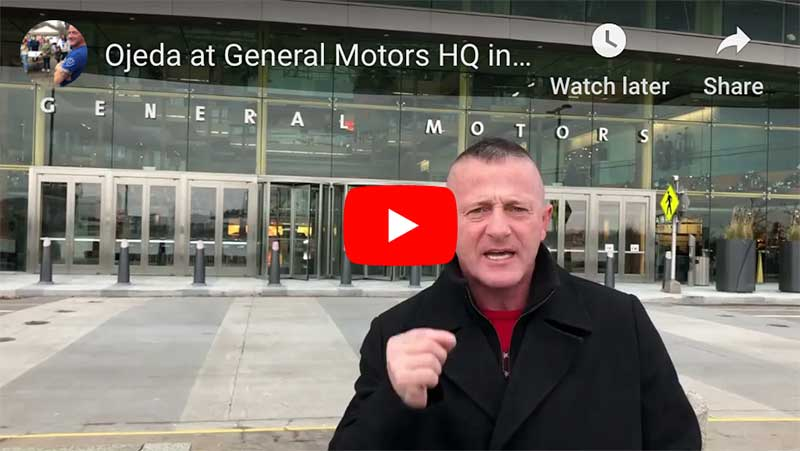 Richard Ojeda at General Motors HQ in Detroit