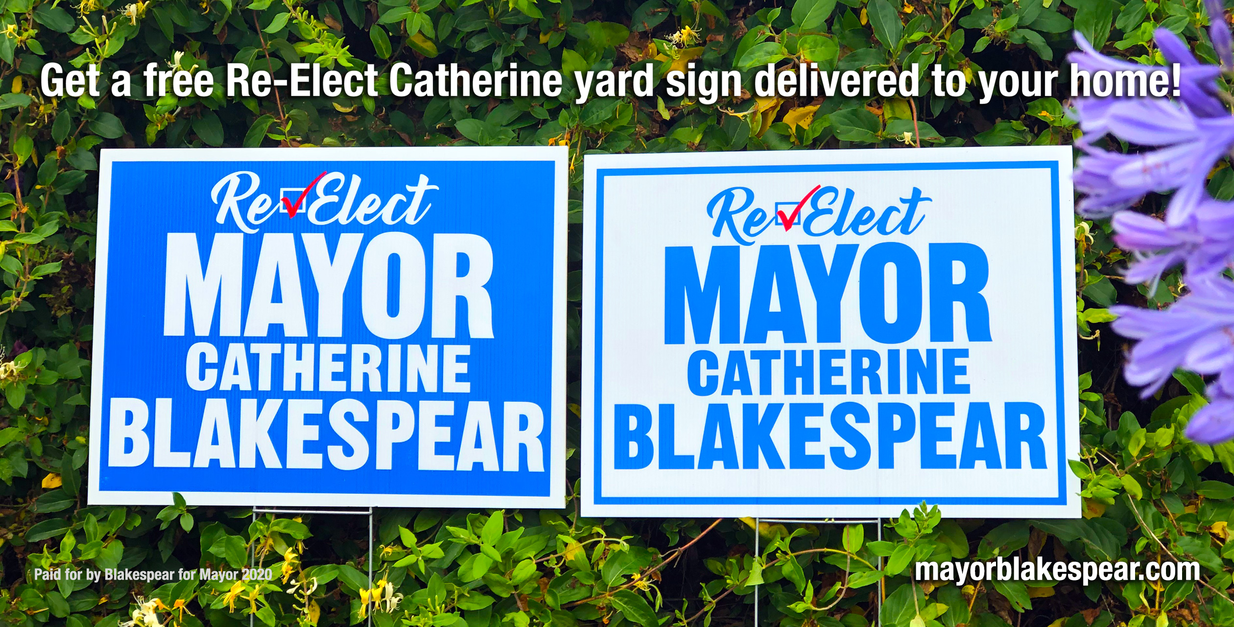 Re-Elect Mayor Blakespear!