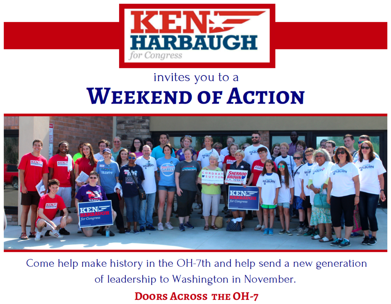 Ken Harbaugh invites you to a Weekend of Action!