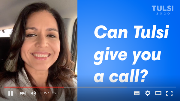 Click to watch the message from Tulsi