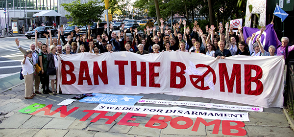 Ban the Bomb Banner