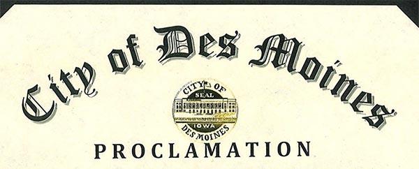 Des Moines Proclamation