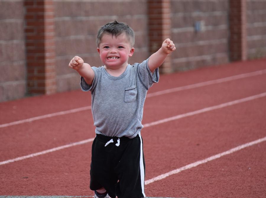 Special Olympics athlete