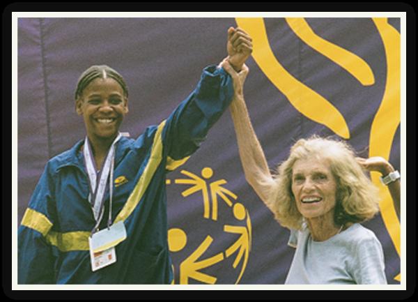 Eunice Kennedy Shriver and Olympian