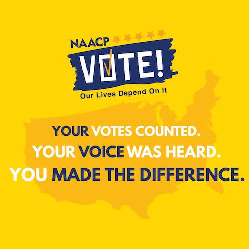 Your votes counted. Your voice was heard. You made the difference.