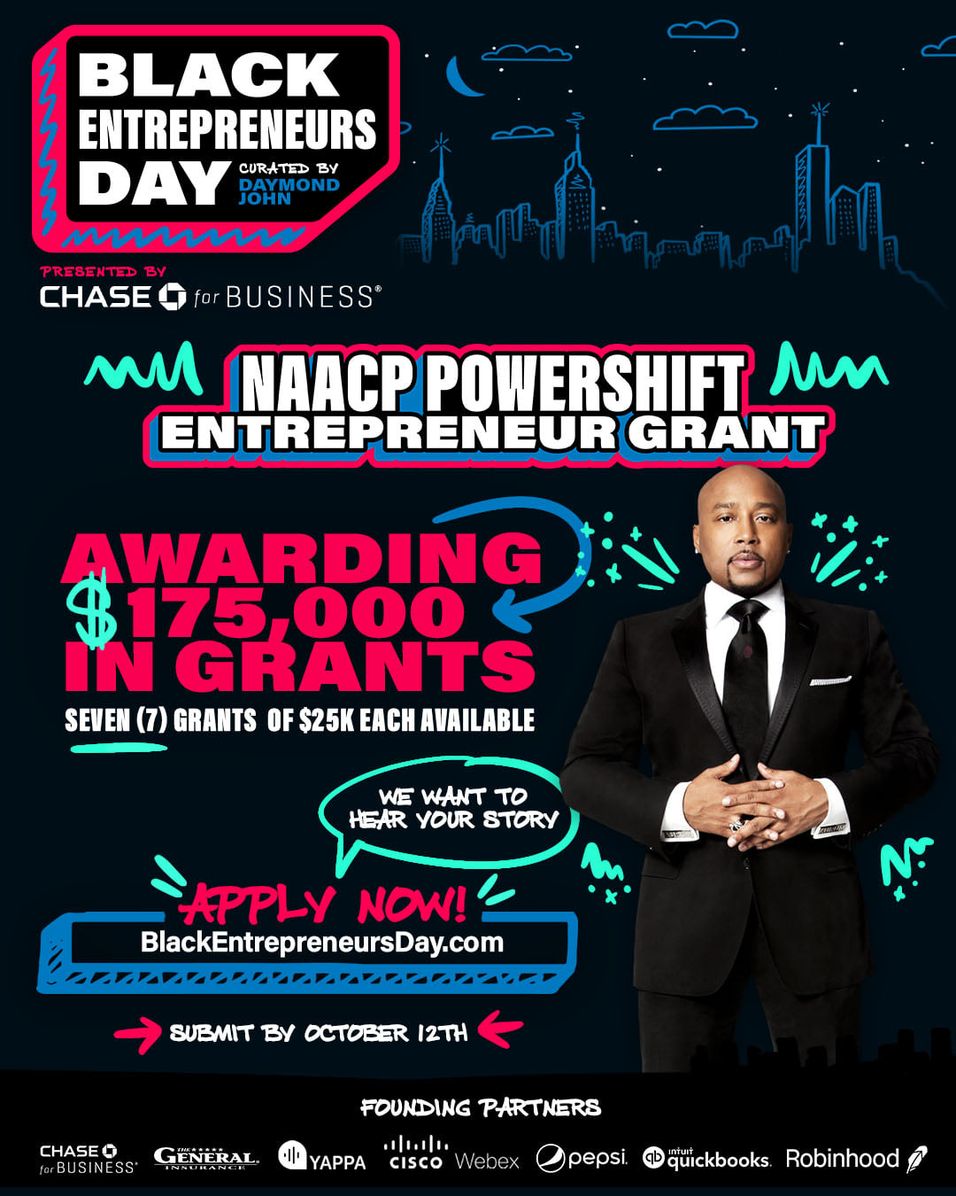 Apply for the NAACP Powershift Entrepreneur Grant