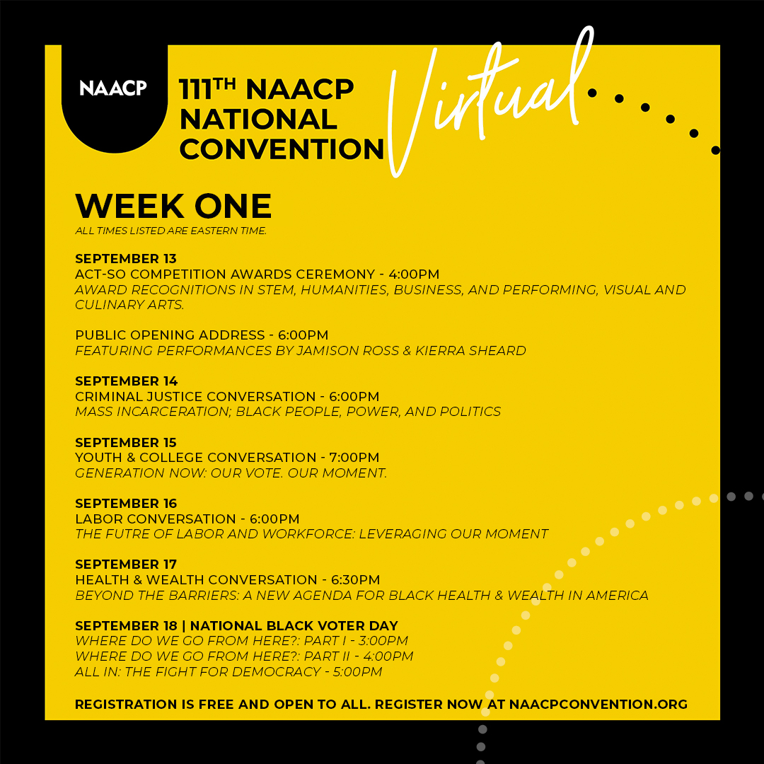 Register for the 111th NAACP National Convention